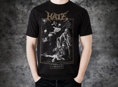 Hate - Embrace the Silence (T-Shirt man)   Official Hate Merchandise Webshop Webstore Onlineshop