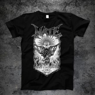 Hate - Solarflesh - dark gospel (T-Shirt front) | Official Hate Merchandise Webshop Webstore Onlineshop