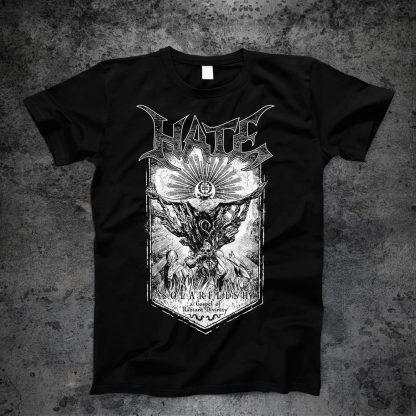 Hate - Solarflesh - dark gospel (T-Shirt front) | Official Hate Merchandise Webshop Webstore Onlineshop