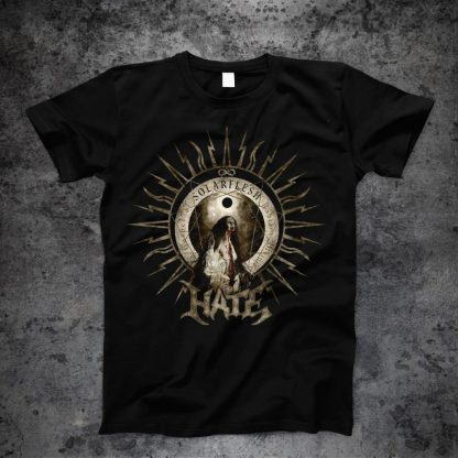 Hate - Solarflesh - radiant divinity (T-Shirt front)   Official Hate Merchandise Webshop Webstore Onlineshop
